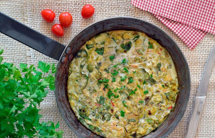 Tortilla de coles de Bruselas